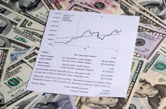 Earnings from trading on the stock exchange .upward trend Royalty Free Stock Photography