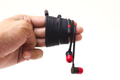 Earphone. Easy to use Royalty Free Stock Photography