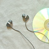 Earphone with CD Royalty Free Stock Photo