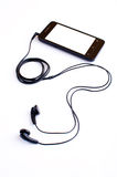Earphone and handphone Royalty Free Stock Image