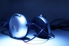 Earphones. Music earphones Stock Photo
