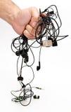 Earphones cables Stock Photos