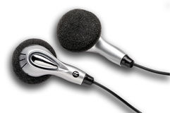 Earphones with clipping path Stock Photography