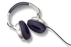 Earphones with clipping path Stock Photo