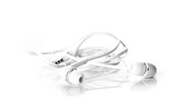 Earphones close up for background Royalty Free Stock Photography