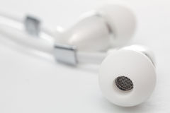 Earphones close-up Royalty Free Stock Photography