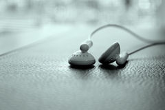 Earphones close up view Royalty Free Stock Photos