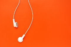 Earphones with copy space Stock Photo