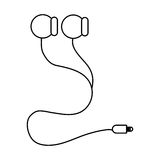 earphones with cord Stock Photography