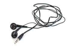 Earphones with a cord Royalty Free Stock Photo