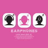 Earphones Icon. Royalty Free Stock Photography
