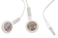 Earphones with jack Royalty Free Stock Image