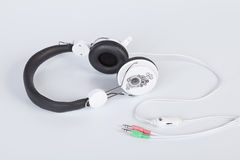 Earphones for listening to music stock photos