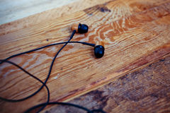 Earphones over Royalty Free Stock Images
