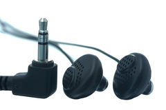 Earphones and plug Stock Images