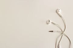 Earphones vintage pastel color tone Royalty Free Stock Image