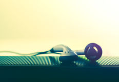 earpiece and speaker photo for music background and music concep Stock Image