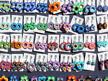 Earring. Some pairs of earrings ready to be sell on market Royalty Free Stock Photography