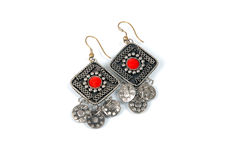 Earring. Beutiful earring made for women Royalty Free Stock Photography