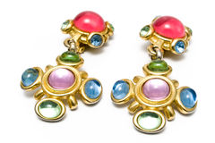Earring with gems Royalty Free Stock Image