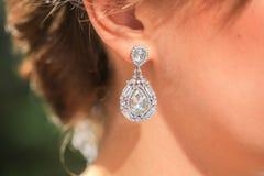 Diamond earring Royalty Free Stock Image