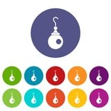 Earring icons set flat vector Royalty Free Stock Image