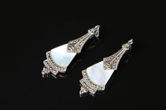 Free Earring Mother Of Pearl Royalty Free Stock Photography - 5473897