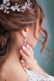 Earring and tiara Royalty Free Stock Photos