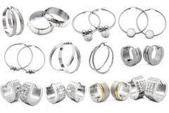 Earring. Women's jewelry Stock Photography