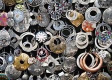 Earrings. For sale in a souk in Granada Stock Image
