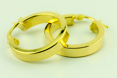 Earrings 18 karat gold Stock Photos