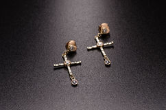 earrings Fotografia de Stock Royalty Free