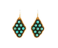 Earrings from beads. Stock Images