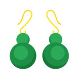 Earrings beautiful accessory isolated vector. Royalty Free Stock Photo