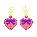 Earrings beautiful accessory isolated vector. Stock Photos