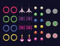 Earrings Royalty Free Stock Photos