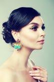 Earrings beauty Stock Image