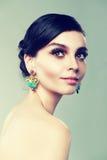 Earrings beauty Royalty Free Stock Image