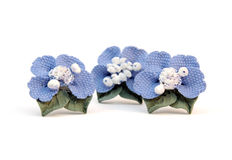 Earrings blue flower Royalty Free Stock Photography