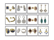 Earrings collection Stock Photos