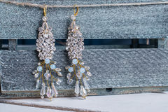 Earrings of costume jewelry Stock Image