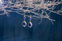Earrings of costume jewelry Stock Photo