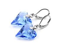 Earrings, crystal heart Royalty Free Stock Photos
