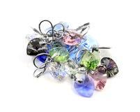Earrings, crystal heart Royalty Free Stock Image