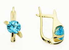 Earrings  with the diamonds Stock Images
