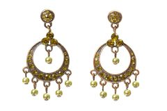 Earrings with gems Royalty Free Stock Photo