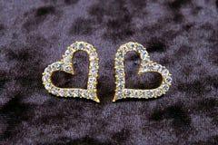 Earrings-heart Royalty Free Stock Photos