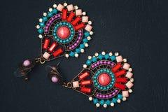 Earrings imitation jewelry stock photos