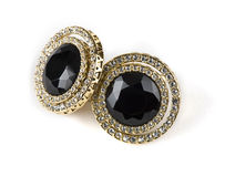 Earrings with jewel Royalty Free Stock Photo