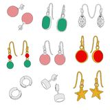 Earrings - jewellry Royalty Free Stock Photography